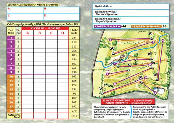FootGolf Score Card